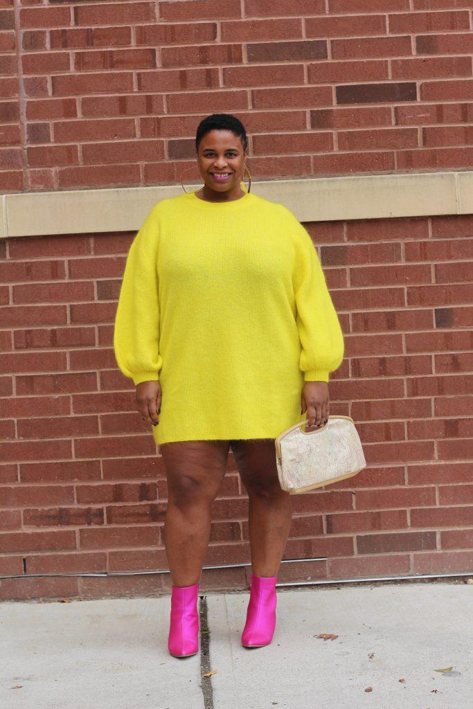 H&M, ASOS, plus blogger, not so mellow yellow