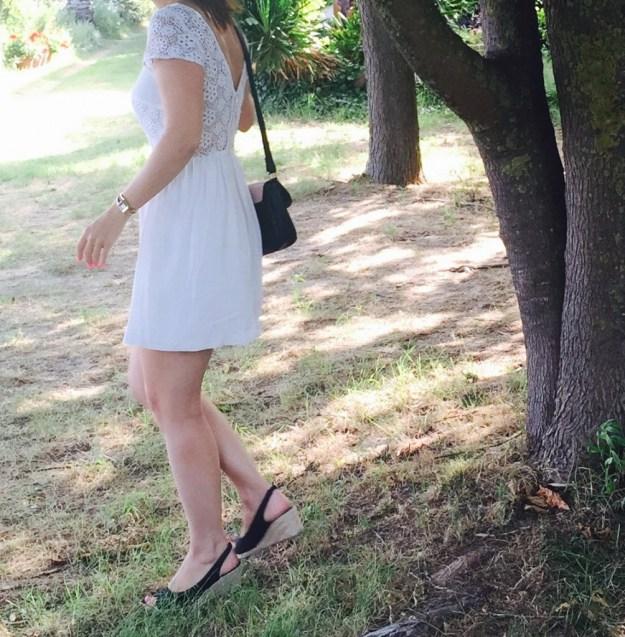 Robe blanche coté