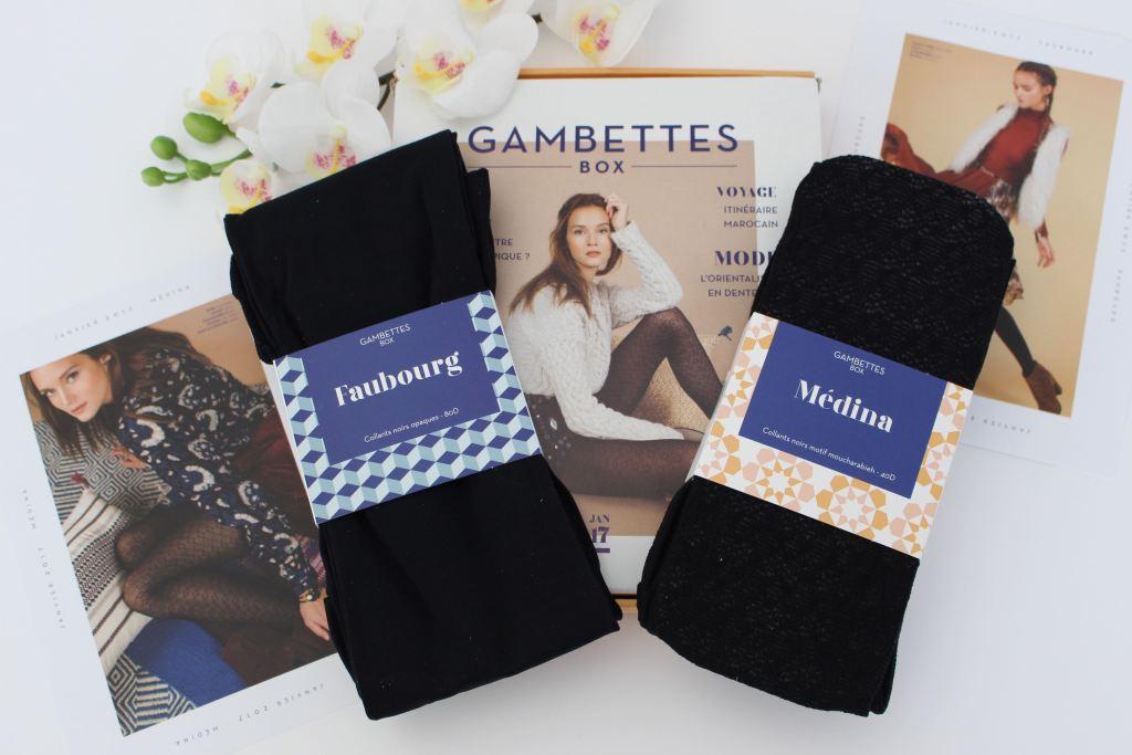 Gambettes box de janvier mademoiselle e