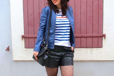 marinière short simili 19 mademoiselle e