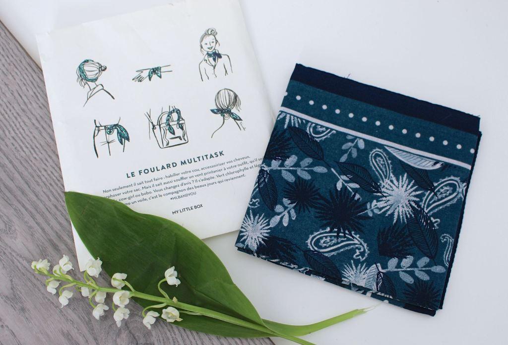 My Little box avril 2017 foulard mademoiselle-e