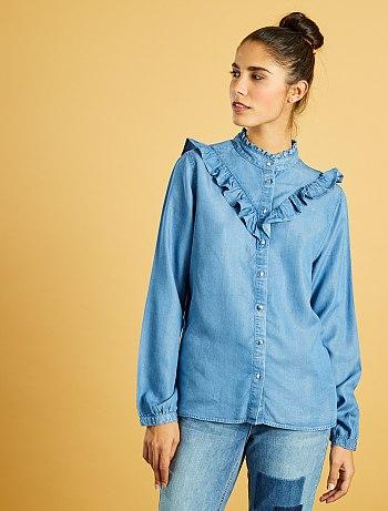 chemise-en-jean-volantee-stone