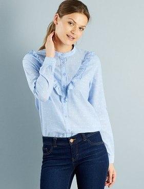 chemise-plumetis-a-volants-jacqueline-de-yong-bleu