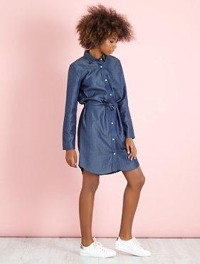 robe-chemise-en-denim-light-denim
