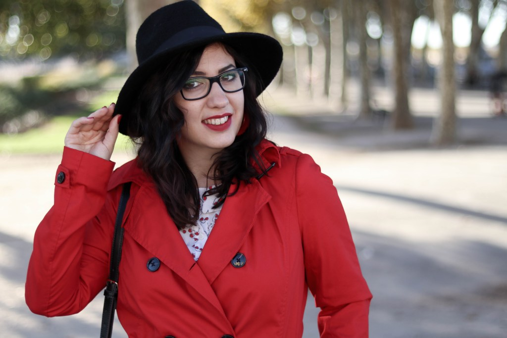 Trench rouge tendance 38 mademoiselle-e