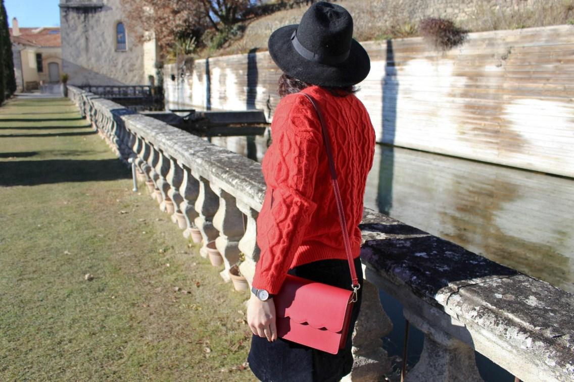 pull rouge torsade pimkie solde look hiver 13 mademoiselle e