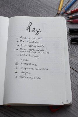 bullet journal bujo key mademoiselle e