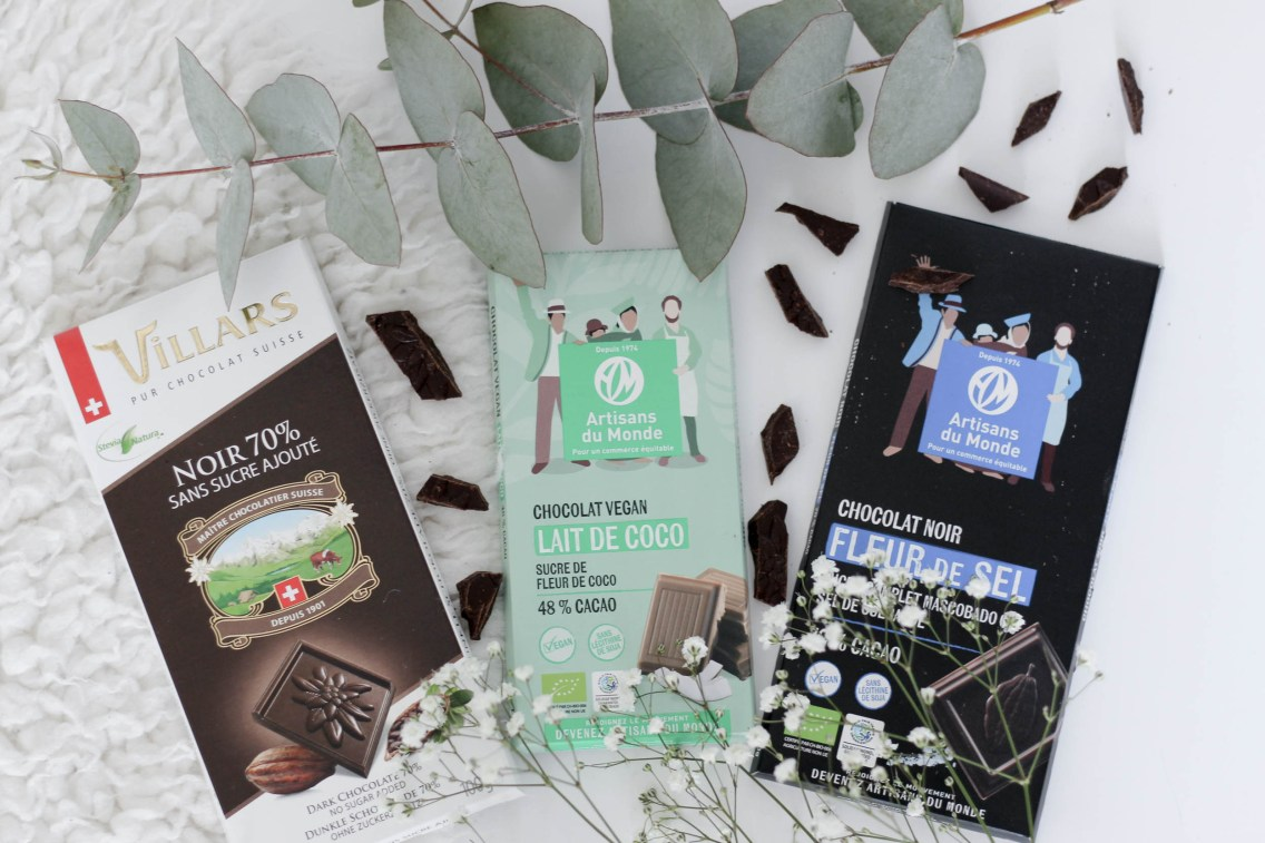 5 petits bonheur #2 chocolat vegan mademoiselle e