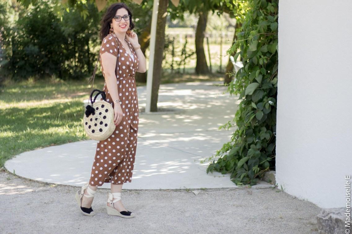 robe longue a pois 1 look été blog mode mademoiselle-e
