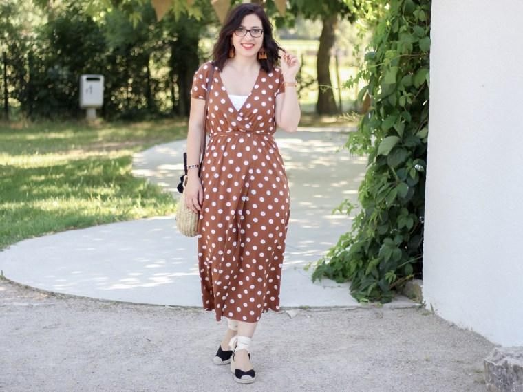 robe longue a pois 17 look été blog mode mademoiselle-e