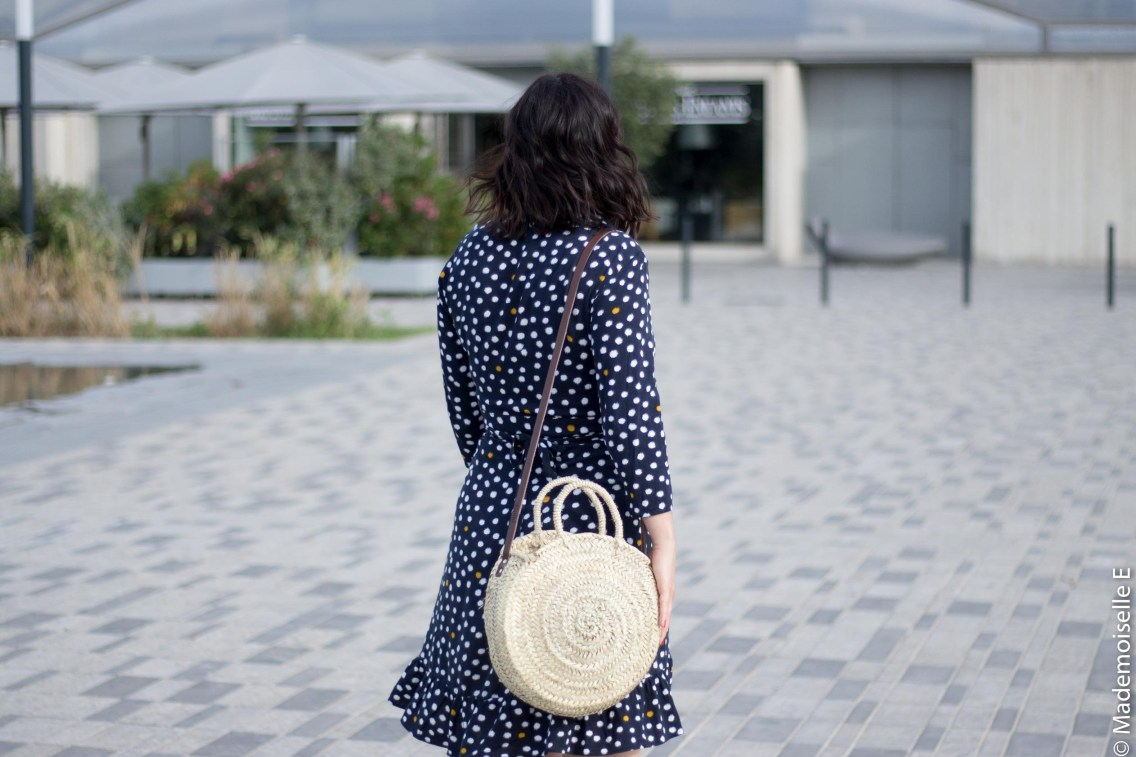 robe portefeuille pois volants Vila Clothes 20 mademoiselle-e look