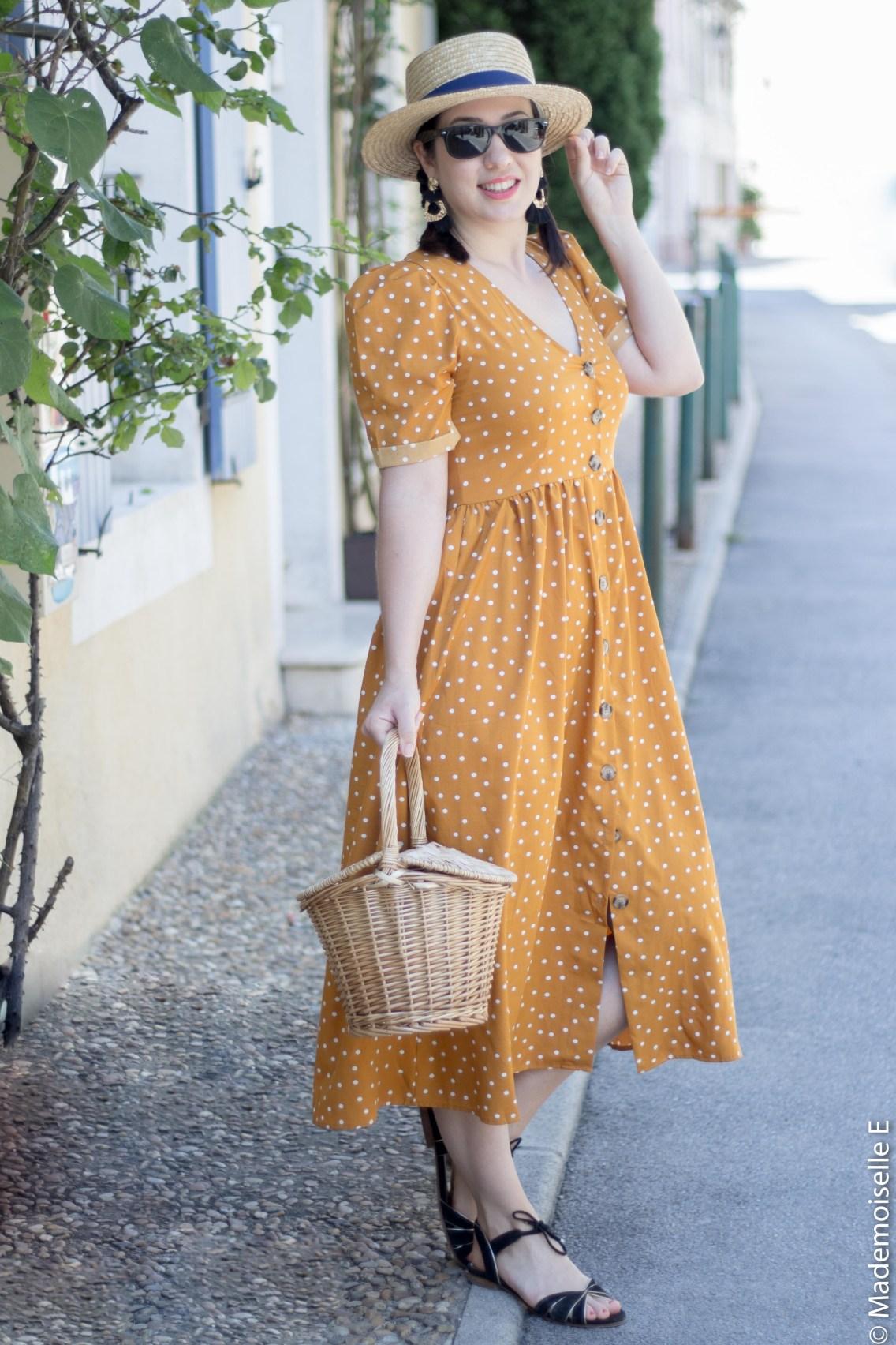 robe pois moutarde tendance été 4 mademoiselle-e