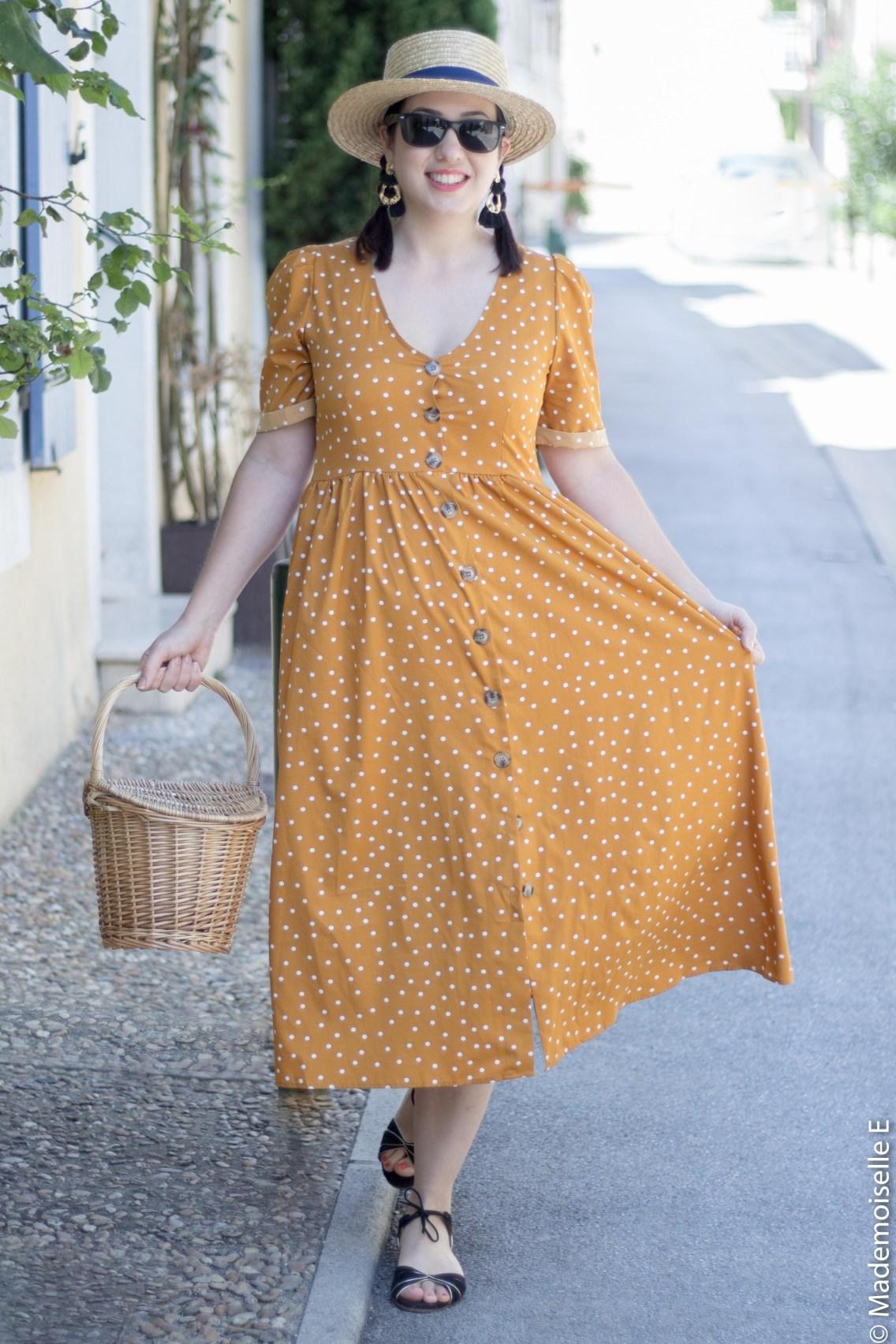 robe pois moutarde tendance été 2 mademoiselle-e
