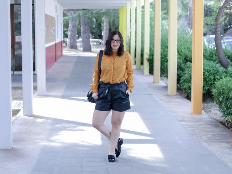 chemise moutarde à pois look rentrée tendance 2018 12 mademoiselle-e