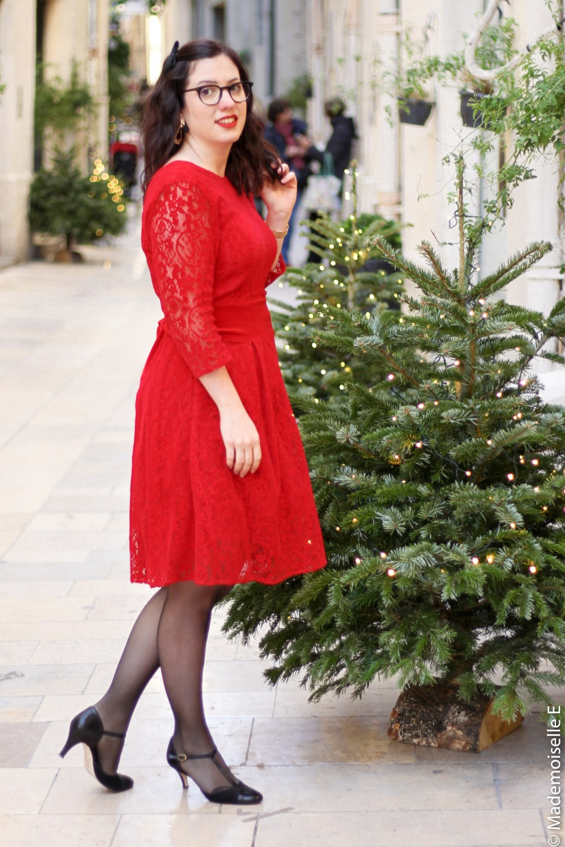 Robe rouge look de noel 6 mademoiselle-e