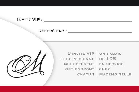 Carte fidélité Mademoiselle