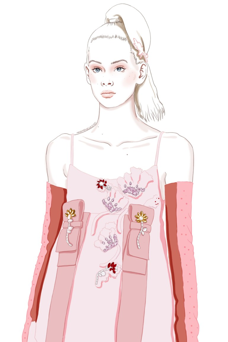illustration mode fashion week prada