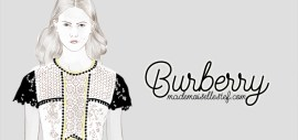 dessin de mode burberry illustration