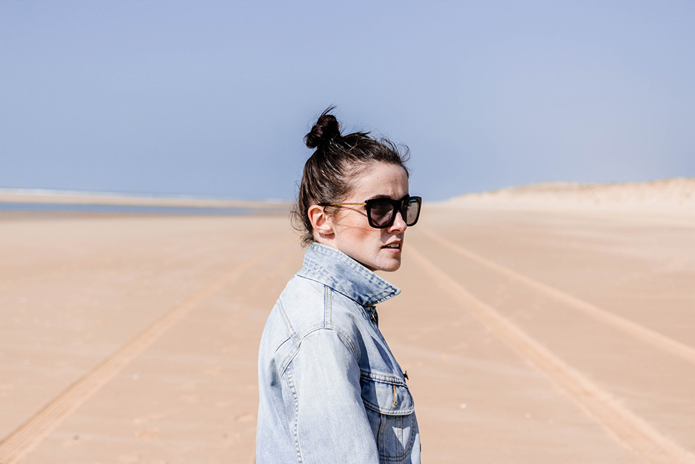 blog mode jupe plissee veste denim