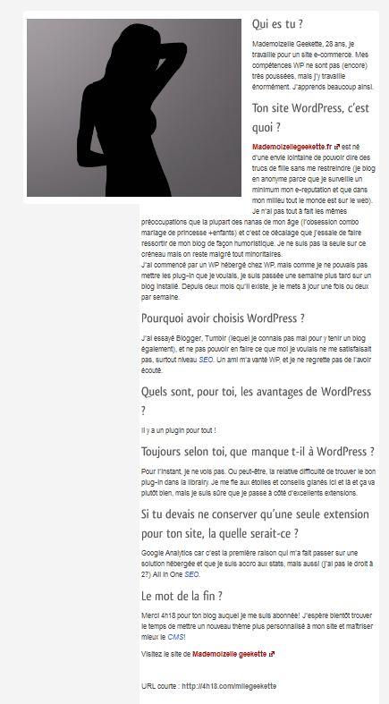 interview mademoizelle geekette