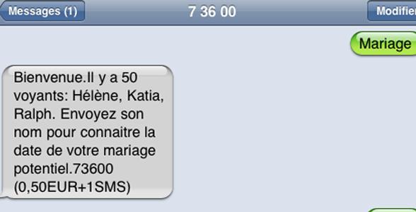 arnaque 73600 voyance sms