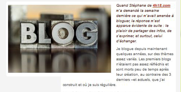 De ma passion du blogging