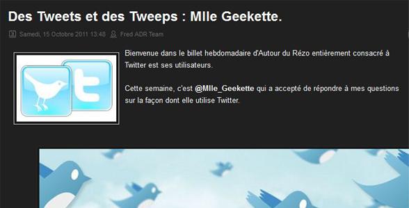 twitter interview mademoizelle geekette