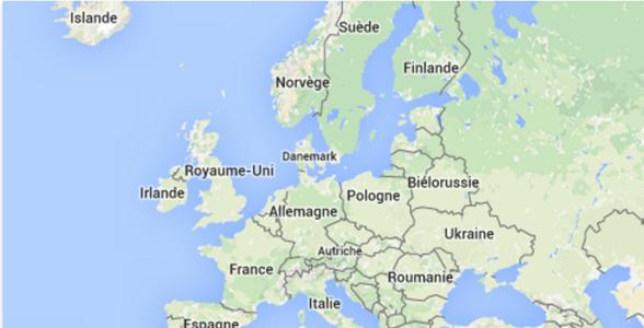 carte europe MG