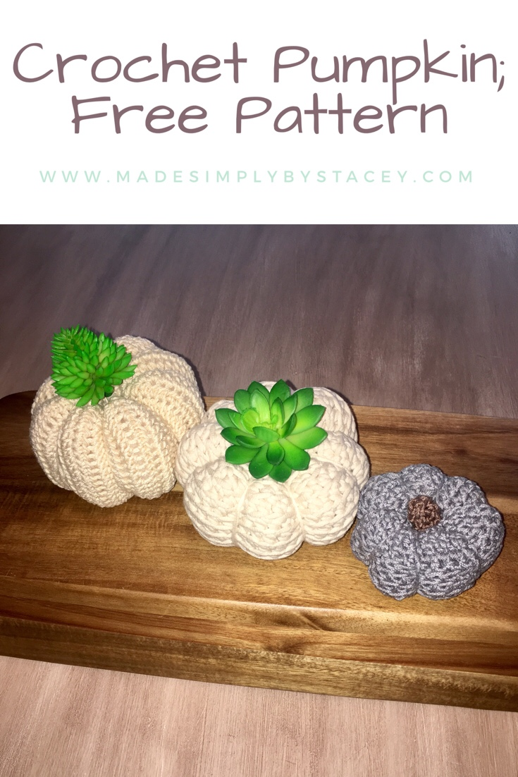 Easy Crochet Pumpkin; Free Pattern