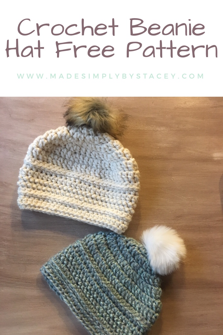 How To Crochet A Beanie Hat Free Pattern Made Simply By Stacey