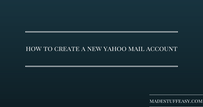 set up new yahoo mail account