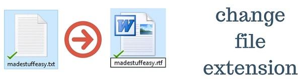 change file extension windows 10