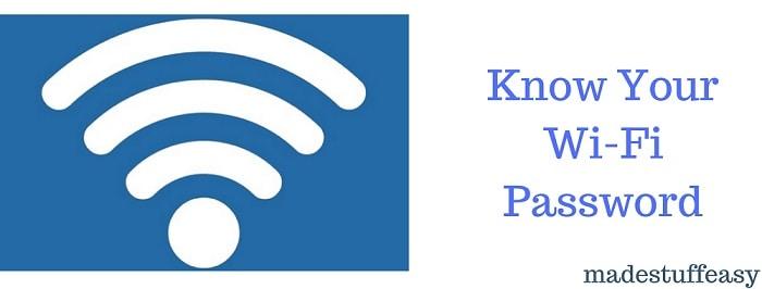 know wifi password using cmd