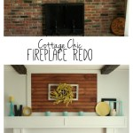 Fireplace Redo Before After Made To Be A Momma