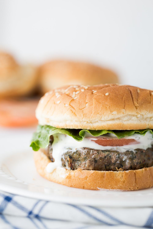 Spinach & Kale Turkey Burgers