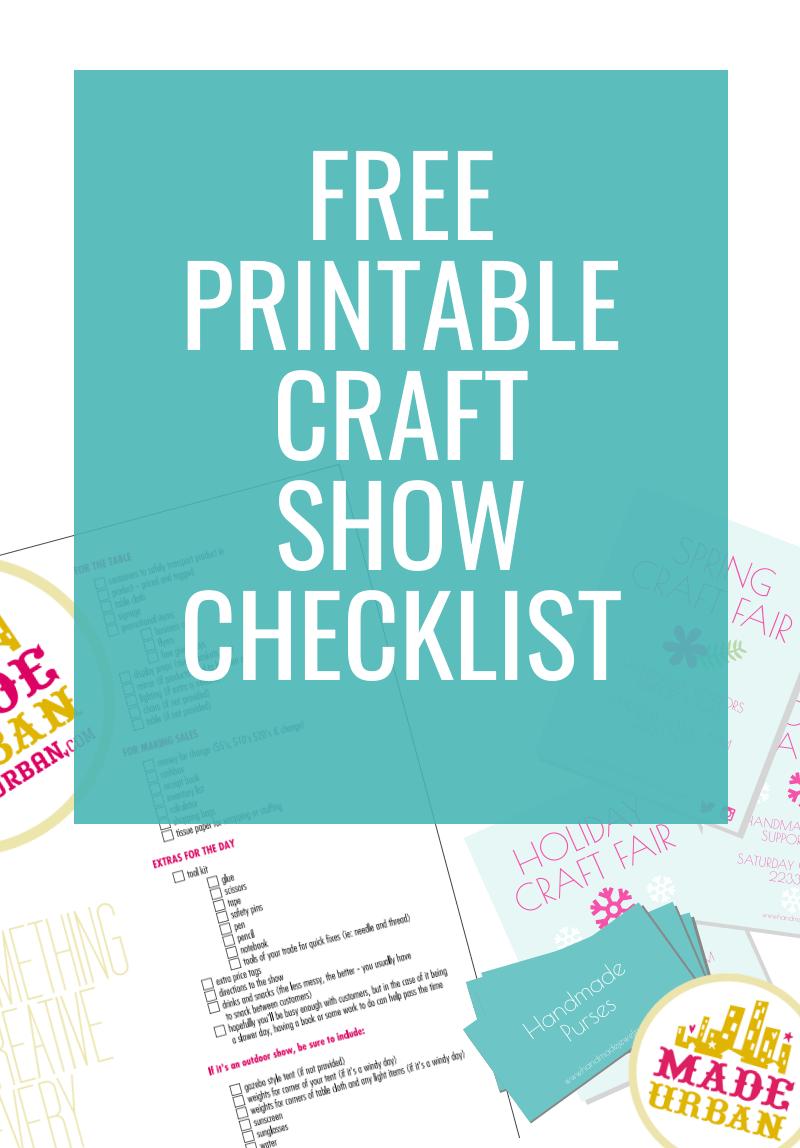 Printable Craft Show Checklist