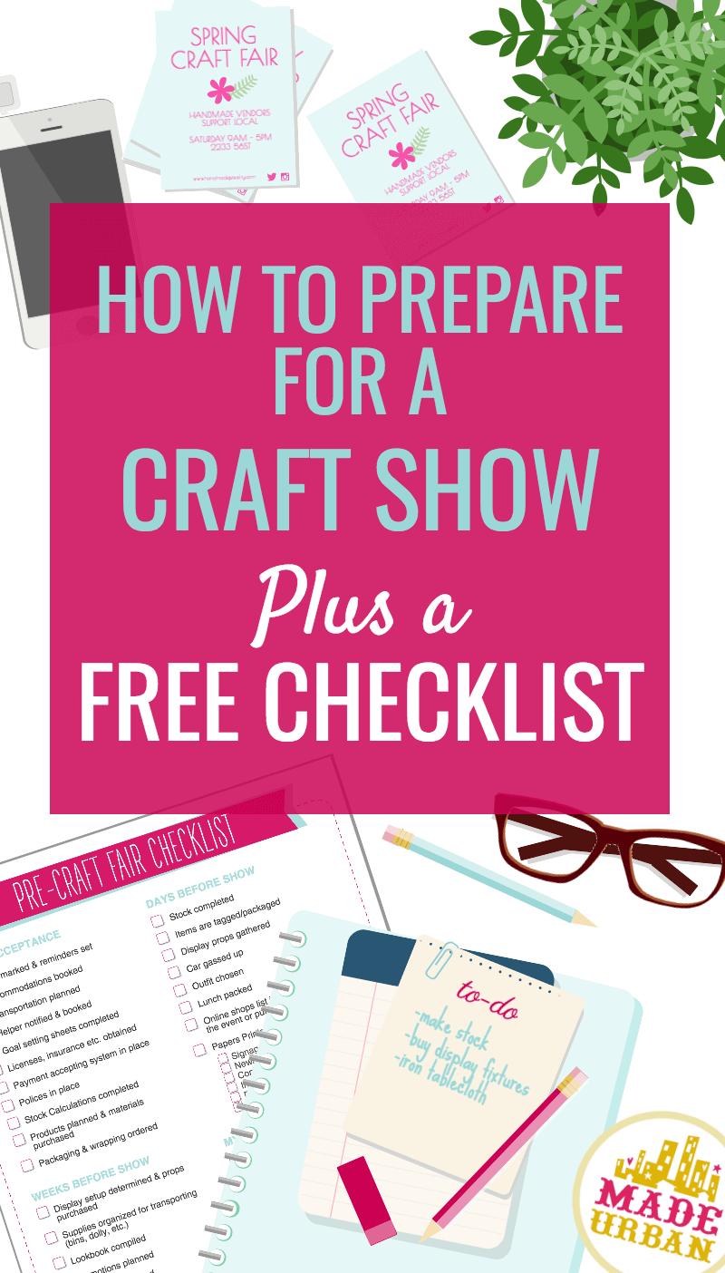 How to Prepare for a Craft Show & Preparation Checklist