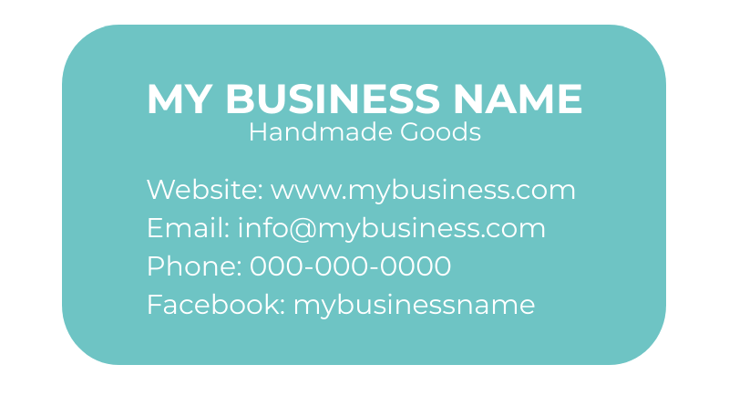 Craft business card example 1