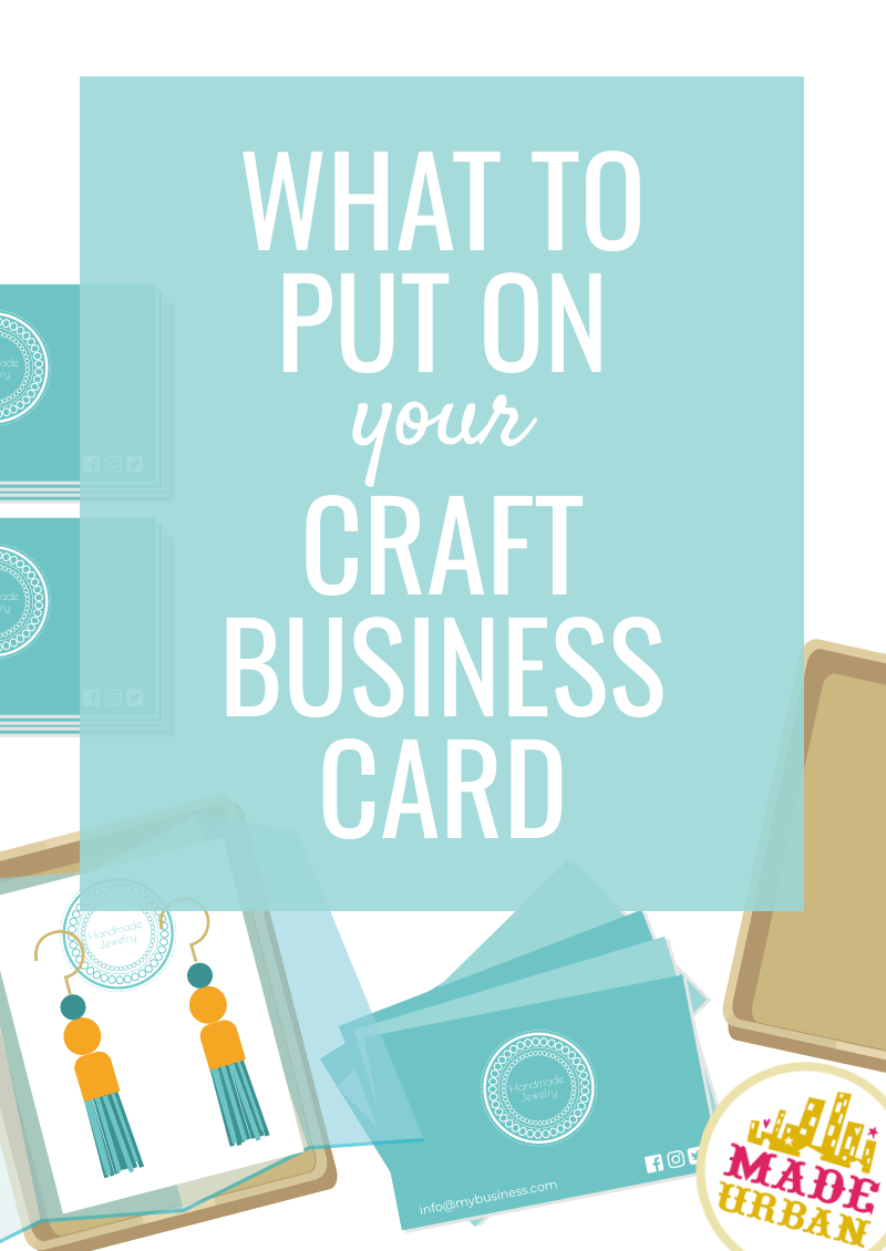 What to Put on a Craft Business Card