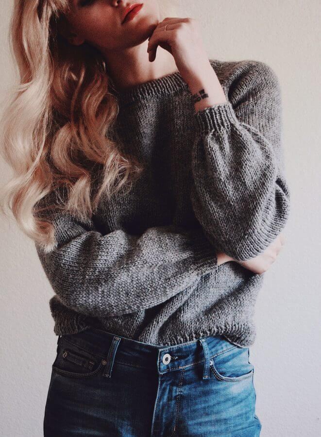 handmade knit sweater