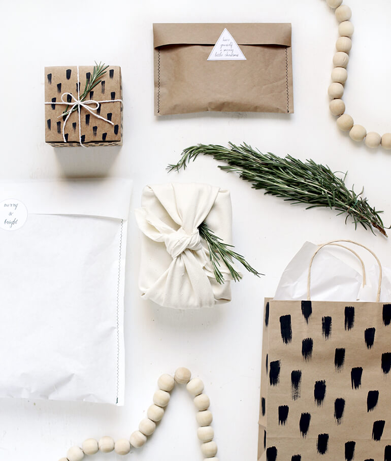 Natural Christmas wrapping paper