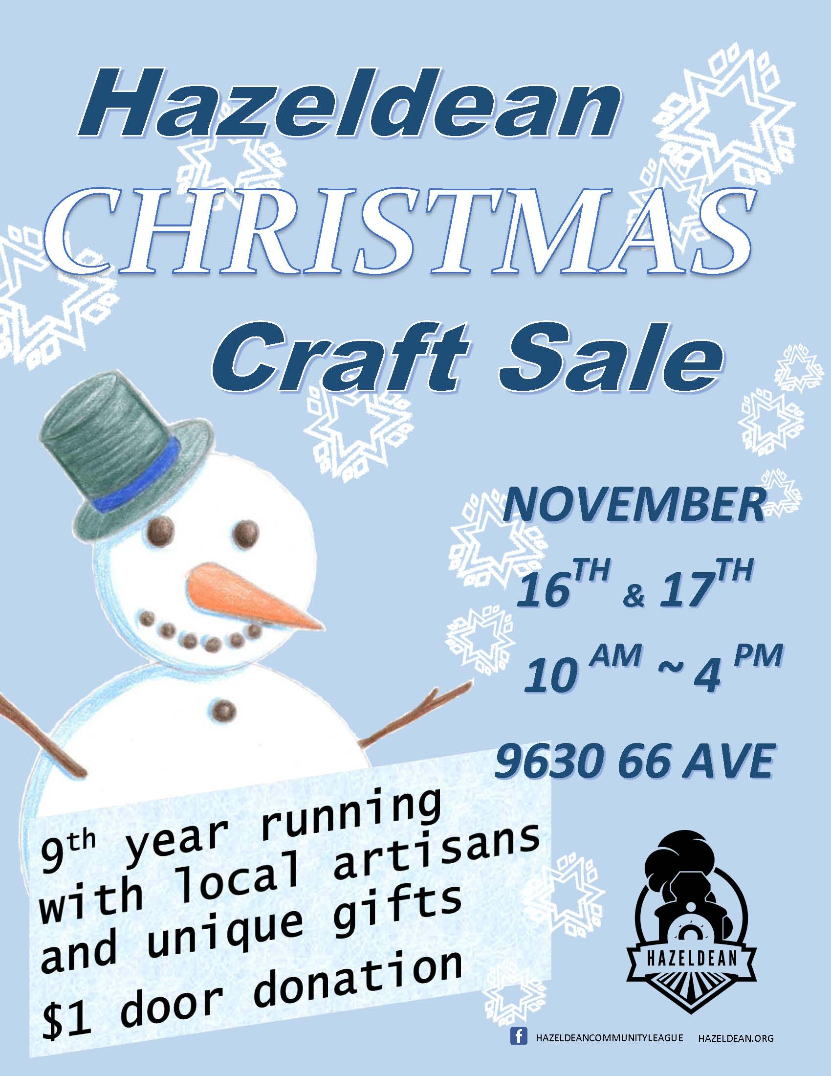 Hazeldean Christmas Craft Sale