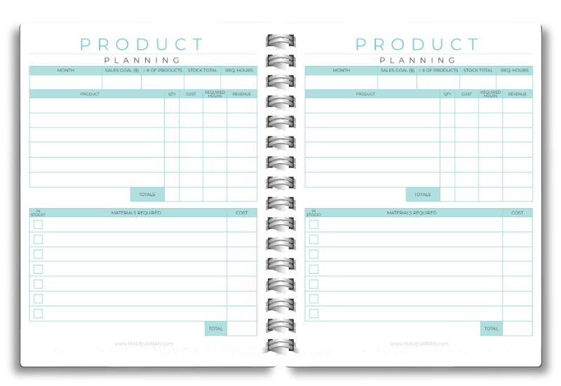 Product Planning Worksheet