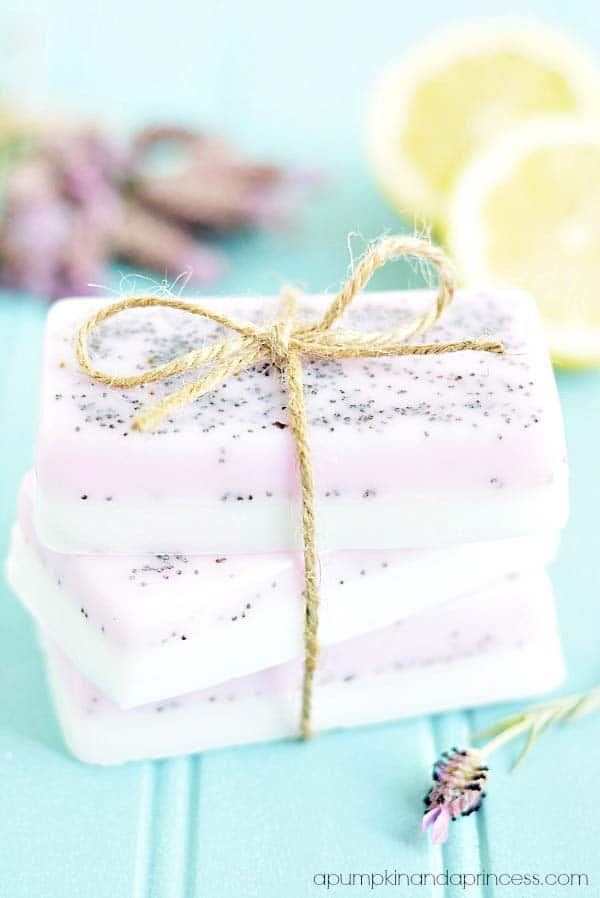 Lemon lavender soap diy