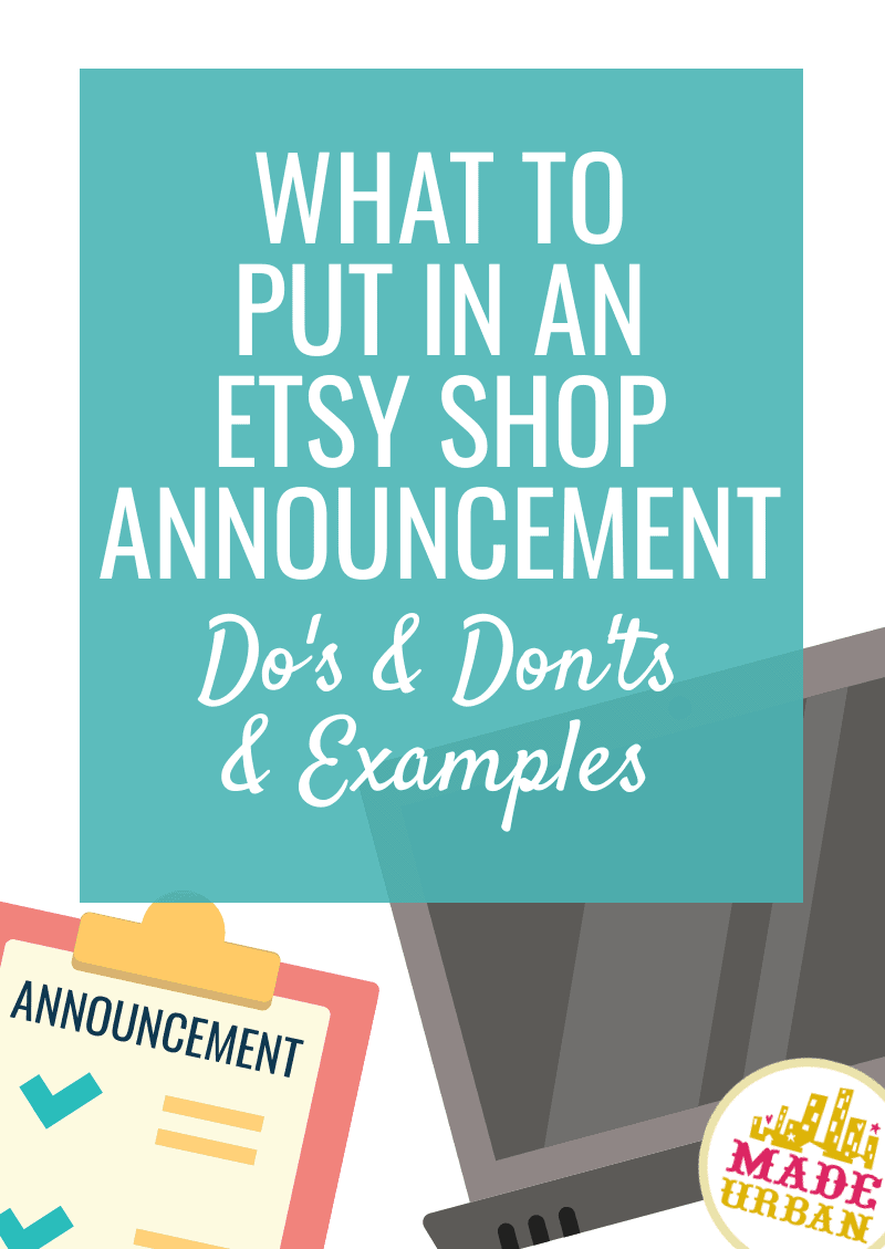 What to Put in an Etsy Shop Announcement (Examples)