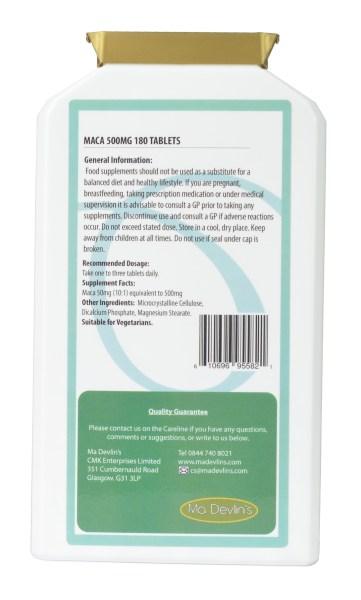 Maca 500mg - 180 tablets