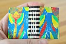 Einband mit Gelli-Print