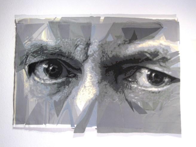 """Nikolaus Harnoncourt"" (2016, 150x300 cm) Foto: Gudrun Leitner"