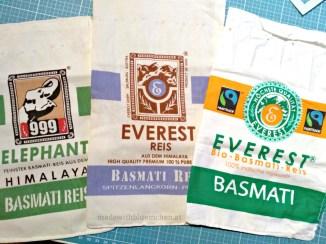 Hübsche Reis-Verpackungen