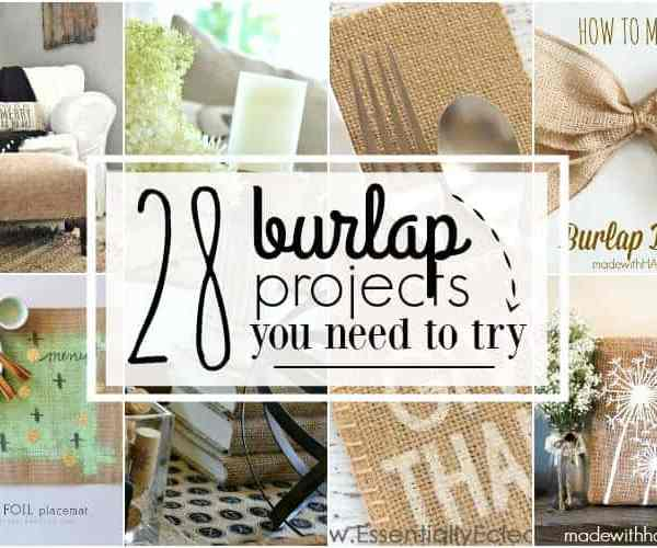 28 Burlap Projects You Need to Try